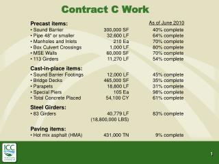 Contract C Work