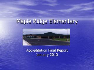 Maple Ridge Elementary
