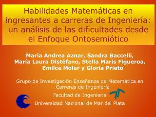 María Andrea Aznar,  Sandra Baccelli,