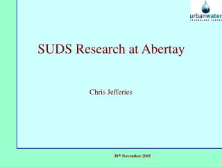 SUDS Research at Abertay
