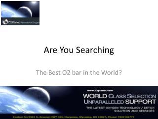 O2 Bar | O2 Bars