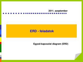 ERD - feladatok