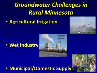Groundwater Challenges in Rural Minnesota