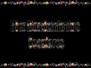 Diez Mandamientos  Seculares