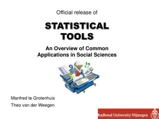 Official release of STATISTICAL TOOLS An Overview of Common Applications in Social Sciences