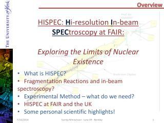 HISPEC:  H i-resolution  I n-beam  SPEC troscopy  at FAIR: