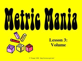 Lesson 3:  Volume