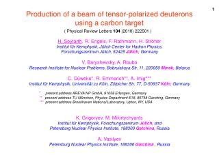 Production of a beam of tensor-polarized deuterons using a carbon target