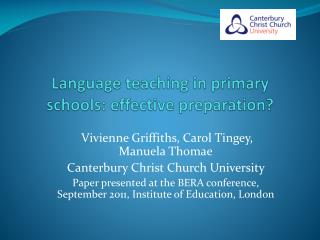 Language teaching in primary schools: effective preparation?