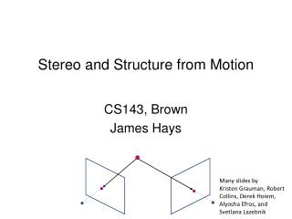 CS143, Brown James Hays