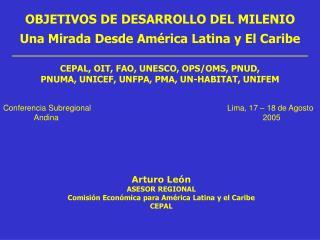 OBJETIVOS DE DESARROLLO DEL MILENIO Una Mirada Desde América Latina y El Caribe