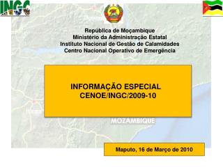 República de Moçambique Ministério da Administração Estatal