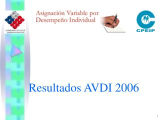 Resultados AVDI 2006
