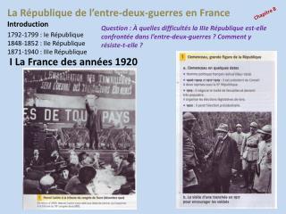 La R�publique de l�entre-deux-guerres en France
