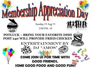 Membership Appreciation Day