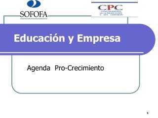 Educación y Empresa