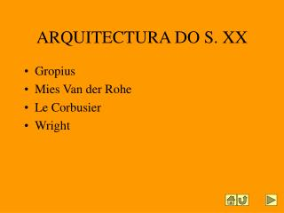 ARQUITECTURA DO S. XX