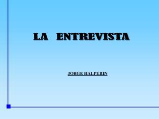 JORGE HALPERIN