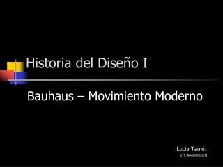 Historia del Diseño I