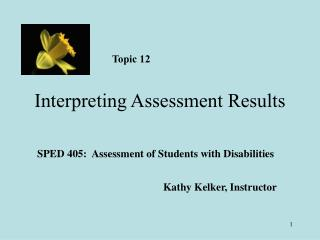 Interpreting Assessment Results