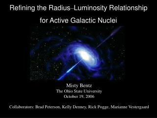 Refining the Radius – Luminosity Relationship for Active Galactic Nuclei