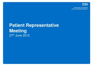 Patient Representative Meeting