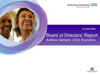 Board of Directors� Report Andrew Geldard, Chief Executive