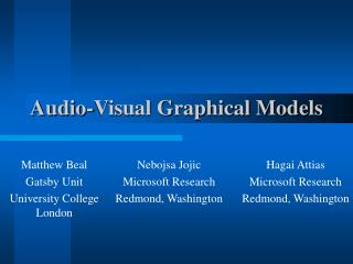 Audio-Visual Graphical Models