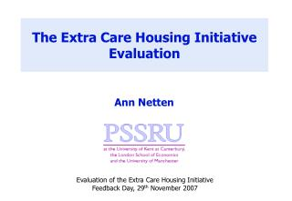 The Extra Care Housing Initiative Evaluation