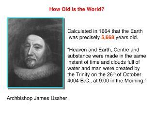 Archbishop James Ussher