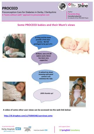 PROCEED Preconception Care for Diabetes in Derby / Derbyshire