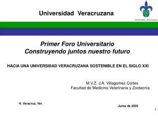 Primer Foro Universitario Construyendo juntos nuestro futuro