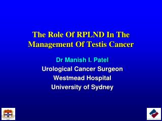 The Role Of RPLND In The Management Of Testis Cancer