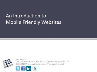 An Introduction to  Mobile Friendly Websites