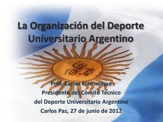 La Organización del Deporte Universitario Argentino
