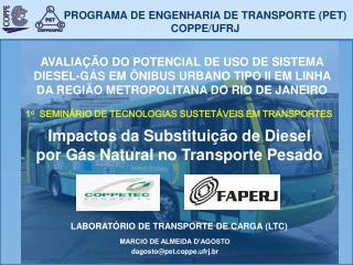 PROGRAMA DE ENGENHARIA DE TRANSPORTE (PET) COPPE/UFRJ