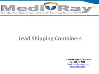 Lead Shipping Containers
