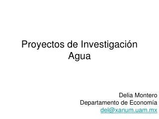 Proyectos de Investigación Agua