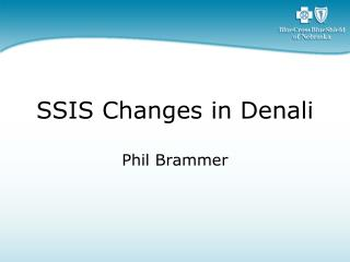SSIS Changes in Denali