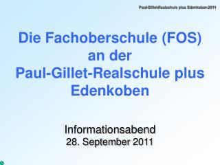 Paul-Gillet-Realschule plus Edenkoben 2011