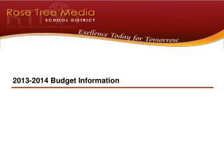 2013-2014  Budget  Information
