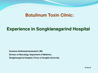 Botulinum Toxin Clinic: