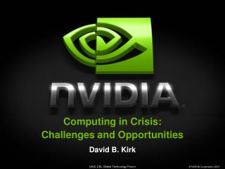 Computing in Crisis: Challenges and Opportunities