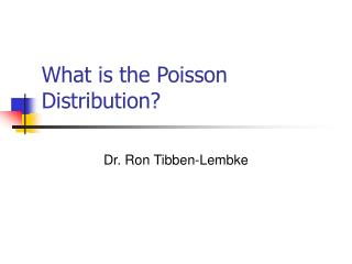What is the Poisson Distribution?