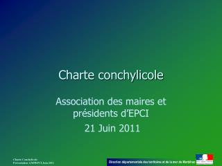 Charte conchylicole