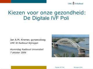 Jan A.M. Kremer, gynaecoloog UMC St Radboud Nijmegen Alumnidag Radboud Universiteit