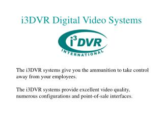 i3DVR Digital Video Systems