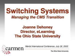 Merlot International Conference, July 26, 2005