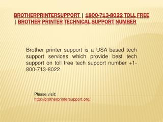 Brother printer support | 1800-713-8022 Toll Free | Brother