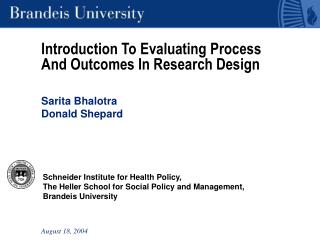 Introduction To Evaluating Process And Outcomes In Research Design